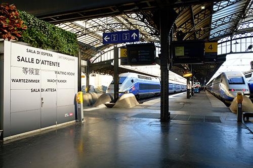 パリ東駅TGVホーム