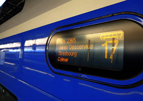パリ東駅TGV行き先表示