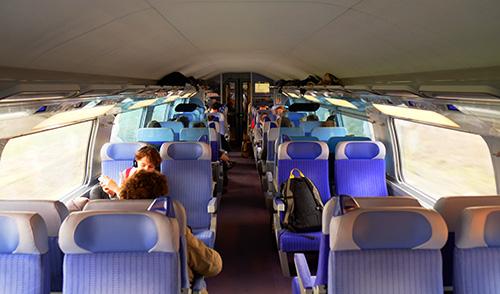 TGV車内二階席2等