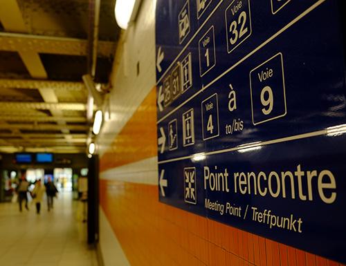 ストラスブール駅構内のサイン