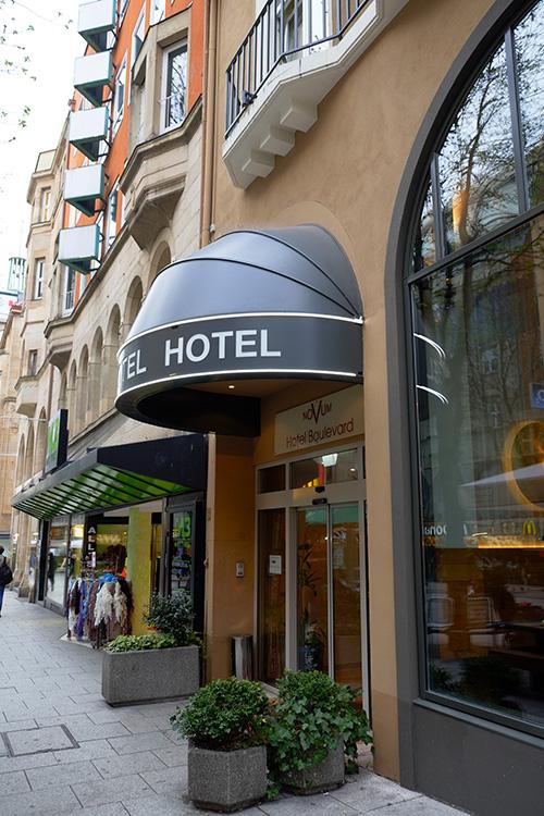 シュトゥットガルトのホテル入り口