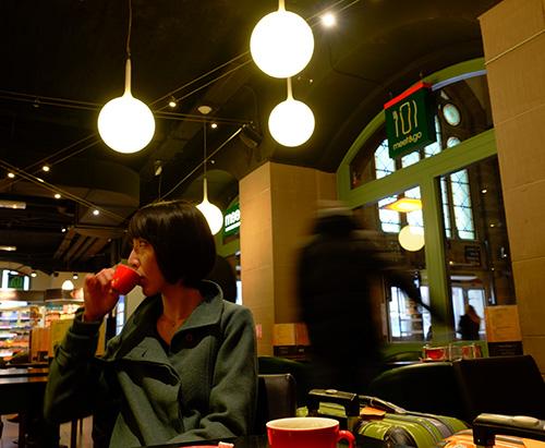 ストラスブール駅/カフェ