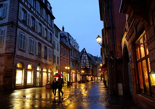 夜の雨のコルマール1