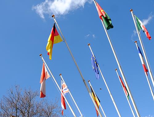 アルザスコルマール/2日目/午後/公園EU各国旗