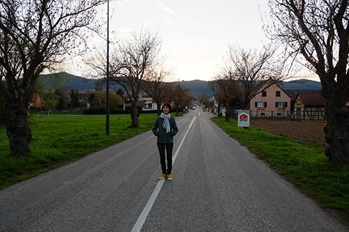 エギスハイムから歩き始める嫁