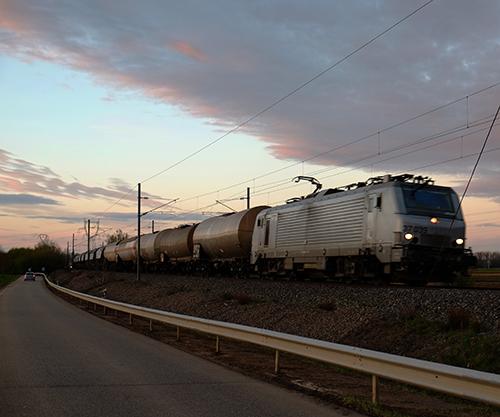 コルマール方面から走って来た貨物列車