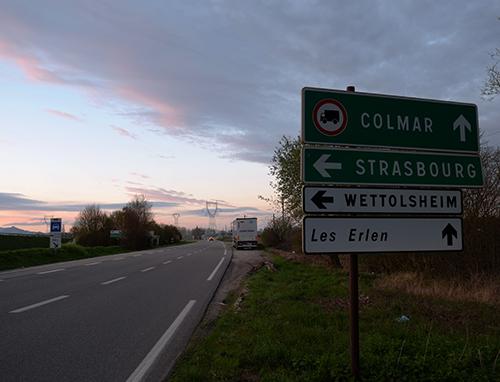 コルマールまでの道