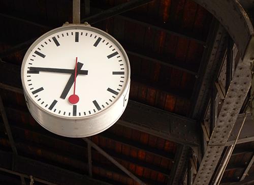 バーゼル駅/時計