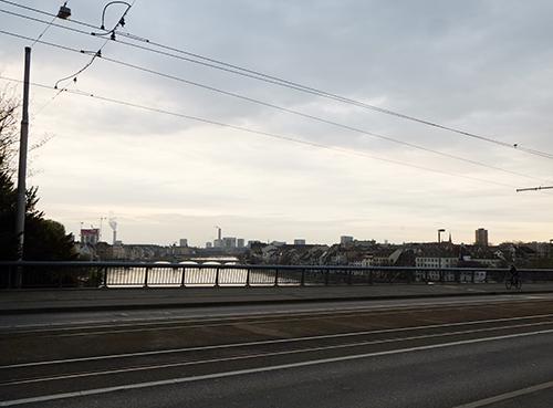 バーゼル街中/ライン川に架かる橋