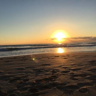 白浜海岸の初日の出