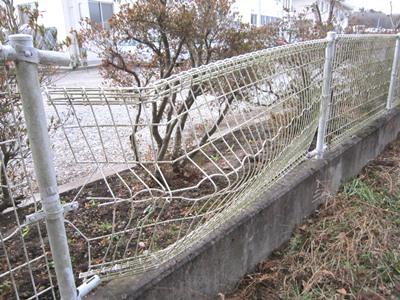 フェンス補修現場調査.JPG