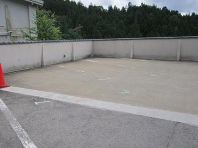 駐車場ライン施工準備.JPG