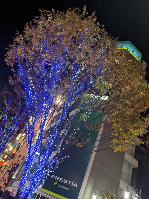 カジノ街風の新宿のイルミネーション