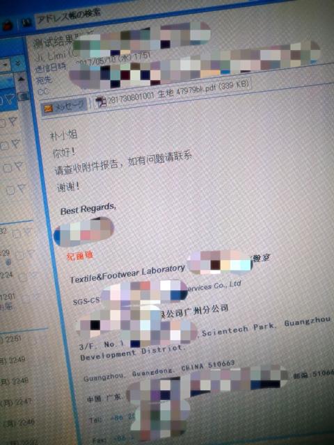 中国からのメール