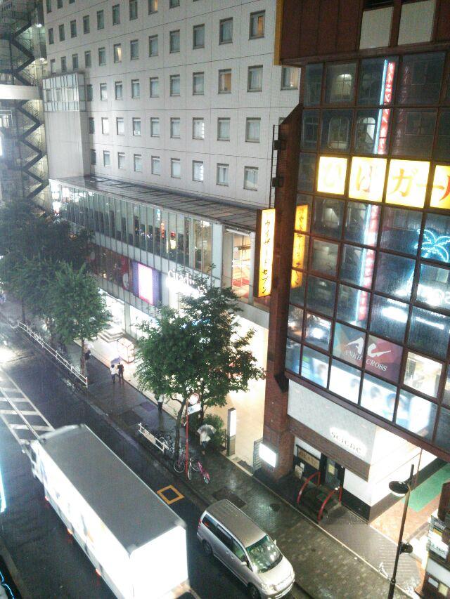 新宿ゲリラ豪雨の様子