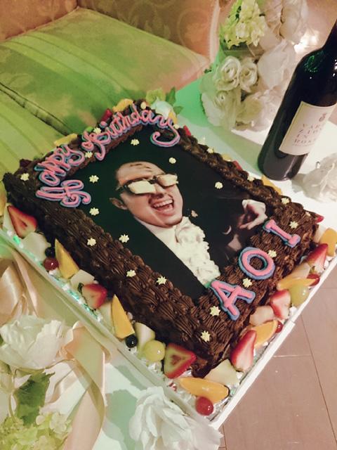 写真のバースデーケーキ