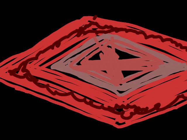 赤いペルシャ絨毯