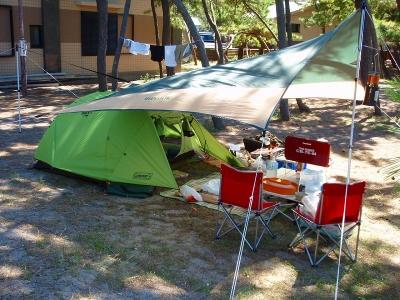 キャンプ ニューパンダ 弁天浜 日本海