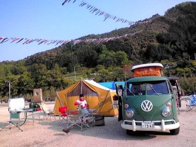 カルマンギア キャンプ 四万十