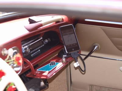 カルマンギア iPod AUX アルパイン