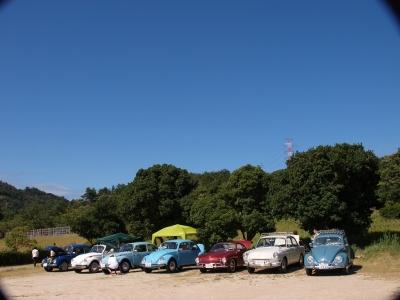 深山公園 カルマンギア 角テール VW 空冷ワーゲン