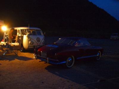 カルマンギア キャンプ 四万十 高知 こいのぼり公園