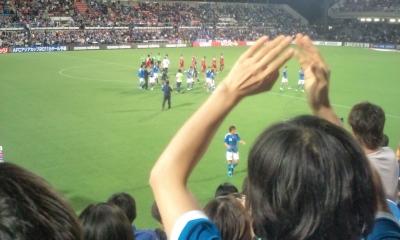 アジアカップ予選@アウスタ「10番俊輔」わかりますか?