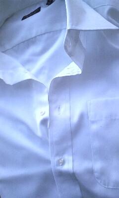 メンズ物:白シャツ