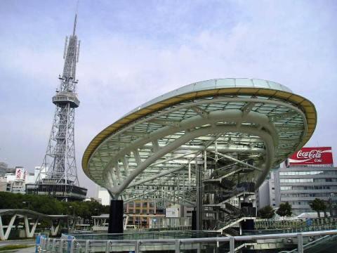 名古屋のテレビ塔とオアシス21