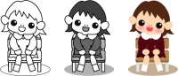 椅子に座った女の子