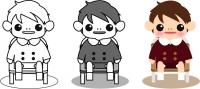 イスに座った男の子1