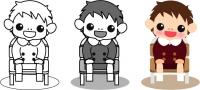 イスに座った男の子2