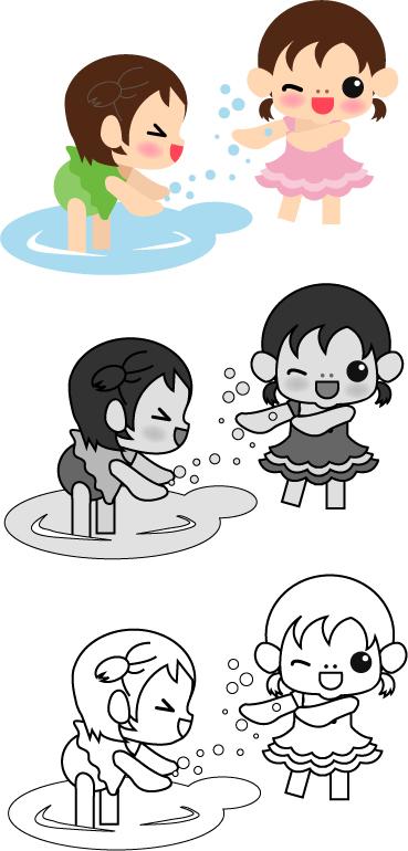 水遊び_女の子