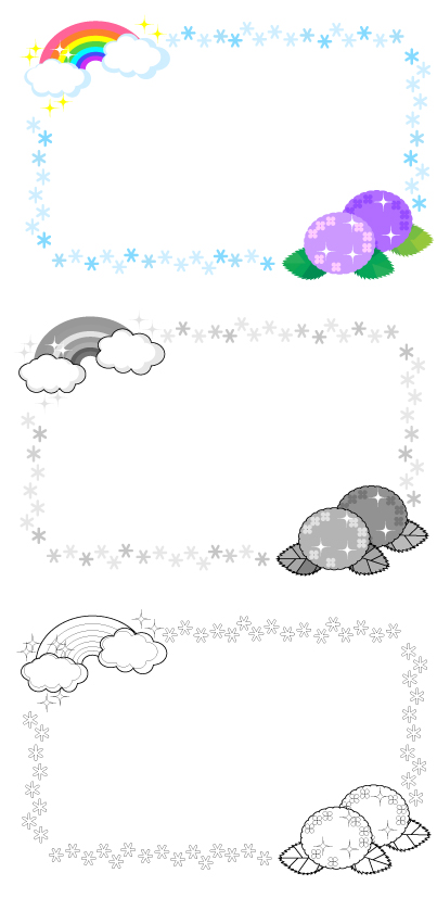 紫陽花の飾り枠