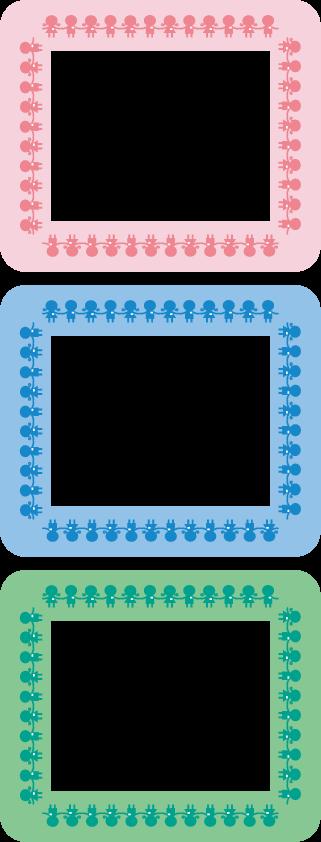 小さい子供の飾り枠