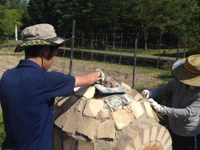 石窯作り風景1