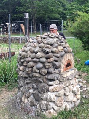 石窯作りイベント完成