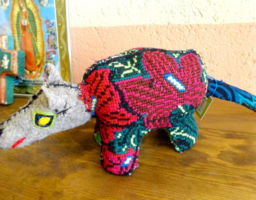 メキシコのカラフルぬいぐるみアニマリートメキシコのカラフルぬいぐるみアニマリート