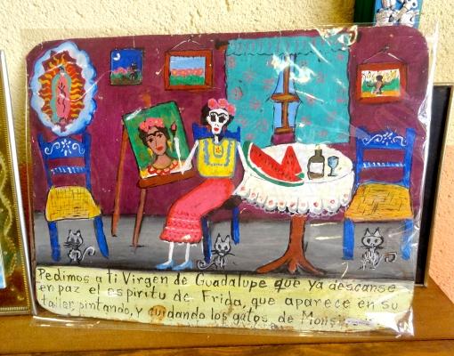 メキシコ フリーダ・カーロの奉納画レタブロ