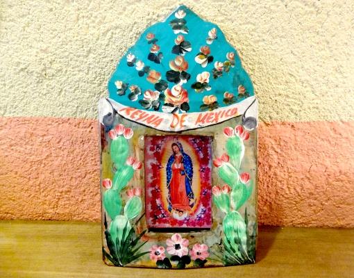 メキシコのブリキボックス「ニチョ」マリア様