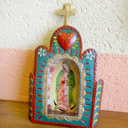 メキシコのマリア様とフリーダのブリキボックス