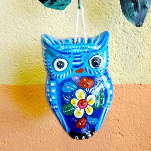 メキシコのフクロウの陶器壁飾り