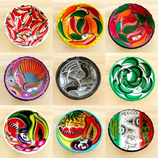 メキシコのカラフルな絵皿