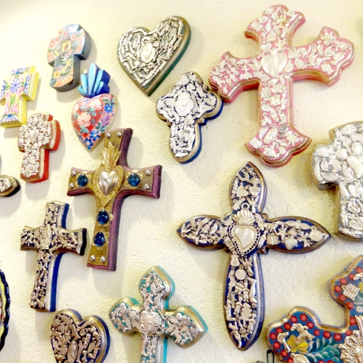 メキシコのミラグロの十字架壁飾り