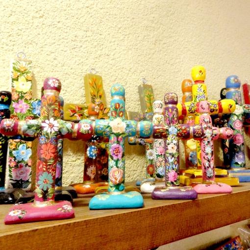 メキシコのスタンド型十字架