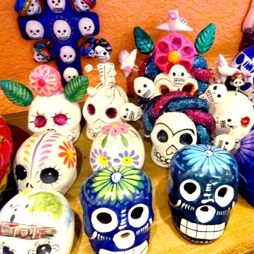 メキシコのガイコツヘッドたち