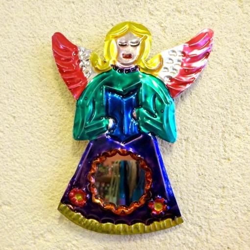 メキシコの天使のブリキアートミラー