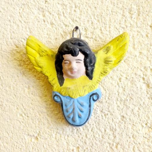 メキシコの陶器の天使壁飾り