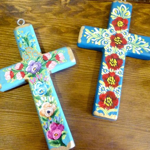 メキシコのハンドペイントの十字架