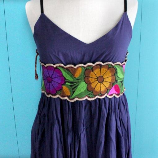 メキシコチアパスの刺繍ベルト
